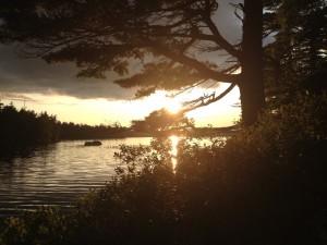 Sunset on Liberty Lake