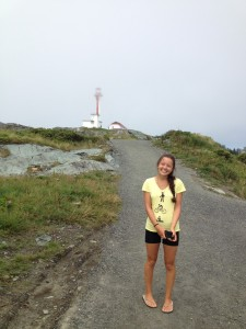 At Cape Forchu, near the end of our 70km bike trip. I did it - and loved it!