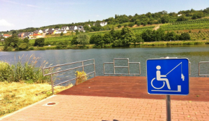 Image of wheelchair user signage at waterfront